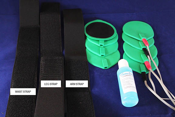 Rubber Electrodes and Velcro Straps