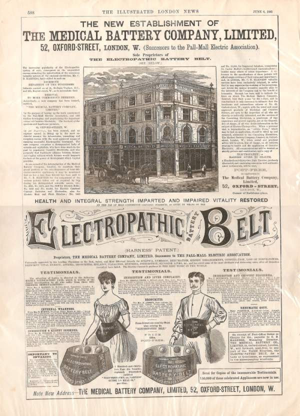 Electropathic Belt was the precursor to the modern EMS ab belt
