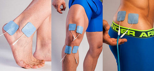 Muscle Simulator for Pain with TENS & EMS on Knee ankle and hip