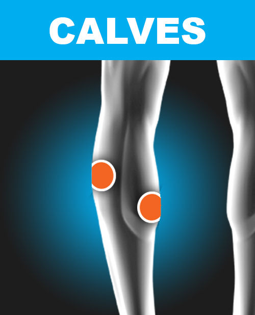 Calves - Electronic Muscle Stimulation Pad Placement