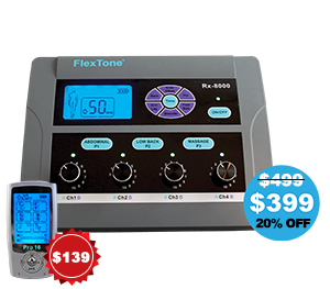 Rx-8000 The Best Muscle Stimulator with TENS and EMS