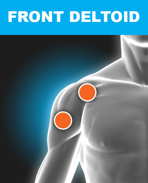Front Deltoid - Electronic Muscle Stimulation Pad Placement
